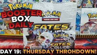 getlinkyoutube.com-Pokemon Cards - FATES COLLIDE Box Opening Pokemon BOX Daily THURSDAY THROHDOWN Day 19