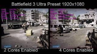2 CPU Cores VS 4 CPU Cores Gaming Performance