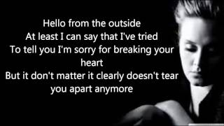 Adele - Hello (Official Lyrics Video) HD