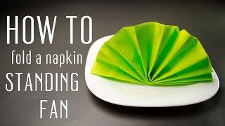 getlinkyoutube.com-How to Fold a Napkin into a Standing Fan