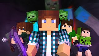 getlinkyoutube.com-Minecraft Música ♫ - COM MEUS AMIGOS | Animation Minecraft (Feat. Brancoala)