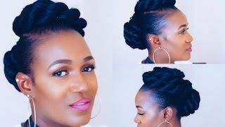 getlinkyoutube.com-Twisted Updo On Short Natural Hair
