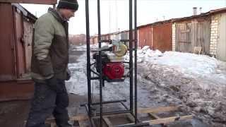 """getlinkyoutube.com-Буровая установка МГБУ """"GasBur"""",бензо,2 редуктора,мощность 4,87 кВт (6.5 л.с)"""