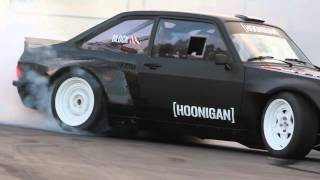 [HOONIGAN] Ken Block Slays Tires in the Gymkhana Escort at the Donut Garage