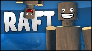 getlinkyoutube.com-2 IDIOTS 1 RAFT! (Raft Multiplayer Gameplay)