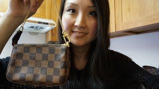 getlinkyoutube.com-Louis Vuitton Damier Ebene Mini Pochette | Review (featuring iPhone 6)