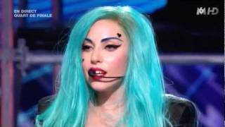 getlinkyoutube.com-Lady Gaga The Edge of Glory & Judas - X-Factor