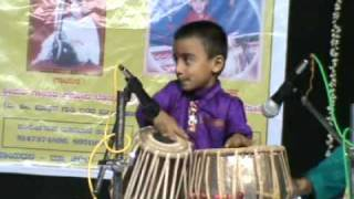 getlinkyoutube.com-Hemant Joshi Tabla Solo  (5 years) Program at Hubli