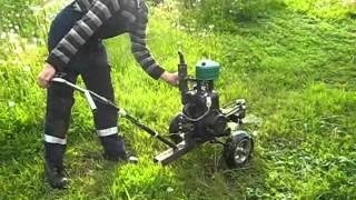 getlinkyoutube.com-Testing the homemade mower.