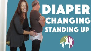 getlinkyoutube.com-Adult Autistic Child: Changing Diapers in a Standing Position