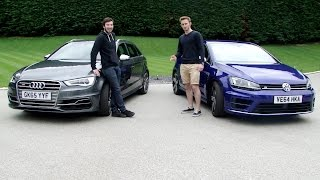 getlinkyoutube.com-Audi S3 vs Golf R - With James & Harry