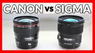 getlinkyoutube.com-Sigma 24mm 1.4 Art vs Canon 24mm 1.4L II - Lens Shootout
