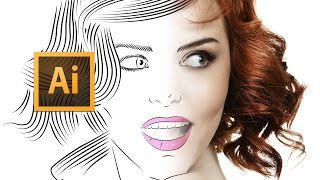 Adobe Illustrator CC - Line Art Tutorial - Tips, Tricks & Shortcuts