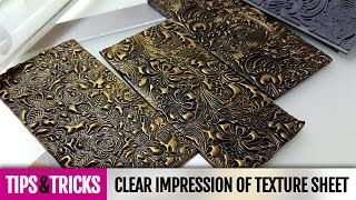 getlinkyoutube.com-Tips&Tricks | Tip #2 How to make clear impression on polymer clay with texture sheet