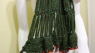 getlinkyoutube.com-Crocher bufanda en cadenas (Crochet Easy Chain Link Scarf)