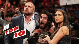 getlinkyoutube.com-Top 10 Raw moments: WWE Top 10, September 14, 2015