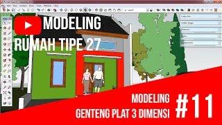 SketchUp - Modeling Genteng Plat 3 Dimensi