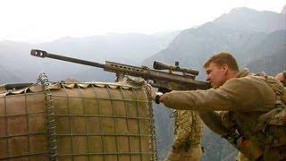 getlinkyoutube.com-U.S. Army Sniper In Afghanistan With His Barrett Rifle