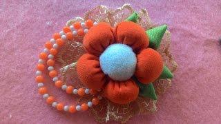 DIY-how to make a beautiful brooch (cara membuat bros cantik)