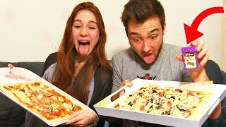 getlinkyoutube.com-PIZZA AU VOMI ! - Pizza Challenge en Couple !!