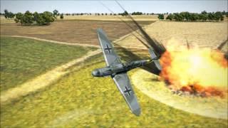getlinkyoutube.com-IL 2 Sturmovik Battle of Stalingrad Epic Slow Motion Crashes!
