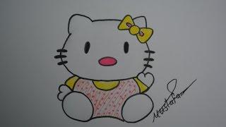 getlinkyoutube.com-تعلم الرسم - الدرس السادس كيفية تعلم رسم لولو كاتي بالرصاص والالوان مع الخطوات للمبتدئين