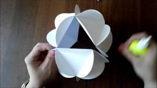 getlinkyoutube.com-Шар из бумаги своими руками/декоративный шар.