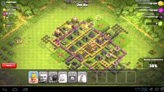 getlinkyoutube.com-Clash of clans | Miglior villaggio Municipio al 7 | Trofei e Framing