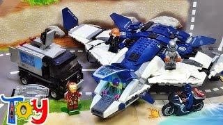 getlinkyoutube.com-sy 어벤져스 퀸젯 도심 추격전 76032 레고 짝퉁 조립 리뷰 Lego knockoff marvel The Avengers Quinjet City Chase