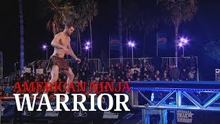 getlinkyoutube.com-Ben 'Tarzan' Melick at 2014 Venice Qualifiers | American Ninja Warrior