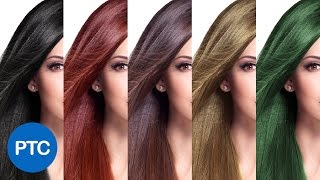 getlinkyoutube.com-How To Change Hair Color In Photoshop - Including Black Hair To Blonde