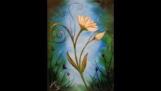 getlinkyoutube.com-La Fleur - Step by Step Acrylic Painting on Canvas for Beginners