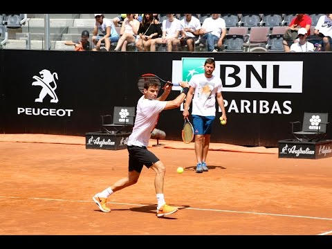 Grigor Dimitrov training with Milos Raonic