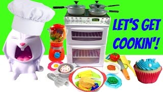 getlinkyoutube.com-Let's Get Cookin' with Chef Snowball - Cook with Electric Oven and Working Dishwasher!
