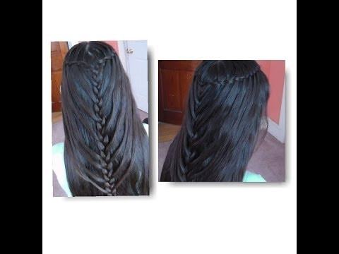 Trenza De Cascada Doble De Sirena/ Waterfall Twists into Mermaid Braid