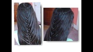 getlinkyoutube.com-Trenza De Cascada Doble De Sirena/ Waterfall Twists into Mermaid Braid