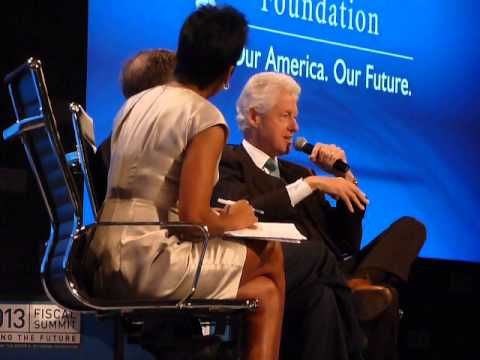 Bill Clinton and Bill Gates discuss their wives' political futures