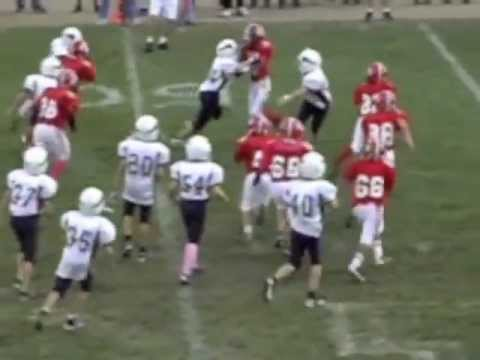 Hunter Freeman - Plymouth Football #22 Pop Warner Dwhite Highlights 2011