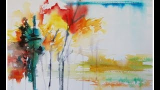 getlinkyoutube.com-Paint an Abstract Landscape in Watercolor!