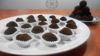getlinkyoutube.com-boules aux chocolat / كرات الشوكولا حلوى بدون طهي