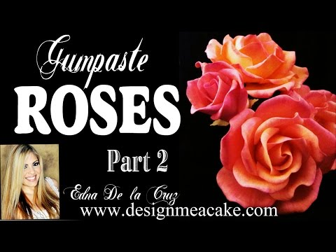 Gumpaste Rose Part II