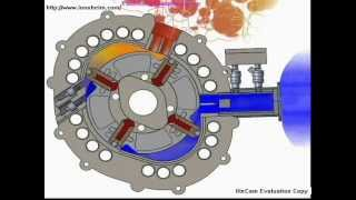 getlinkyoutube.com-Motor Rotary Engine 2D animation fuel saving New
