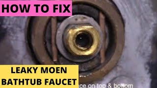 getlinkyoutube.com-Fix Leaky Moen Bathtub Faucet. Free Replacement #1225 cartridge (DIY)