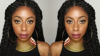 getlinkyoutube.com-Natural looking Marley Twist Wig! || Jessica Pettway