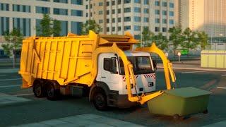 getlinkyoutube.com-Чистоплотный Гоша мусоровоз. Герои нашего города. Мультфильмы про машинки.