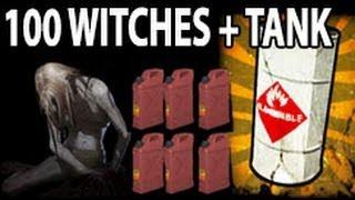 getlinkyoutube.com-Left 4 dead 2 - 100 witches 1 tank vs explosives and gasoline