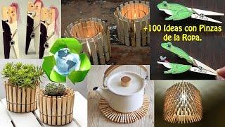 getlinkyoutube.com-Reciclar Pinzas de Ropa +100 Ideas / Recycling clothespins +100 Ideas