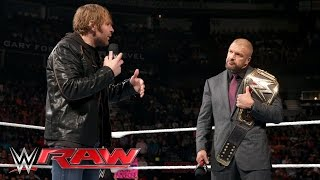 getlinkyoutube.com-Dean Ambrose interrupts Triple H with a bold challenge: Raw, February 29, 2016