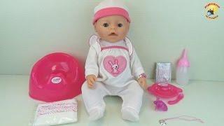 getlinkyoutube.com-Baby Warm – обзор куклы. Кушает, плачет и купается (аналог Baby Born) / Toys for girl. Videos Doll