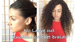 getlinkyoutube.com-HOW TO DO KNOTLESS NO LEAVE OUT CROCHET BRAIDS ON CAUCASIAN HAIR WITH DEEP TWIST HAIR